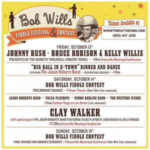 Bob Wills Fiddle Festival 2017 Schedule