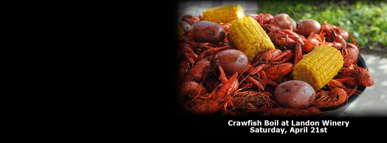 Crawfish Boil Landon Winery April 21